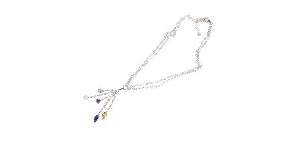 Dámský stříbrný náhrdelník Arla s kamínky