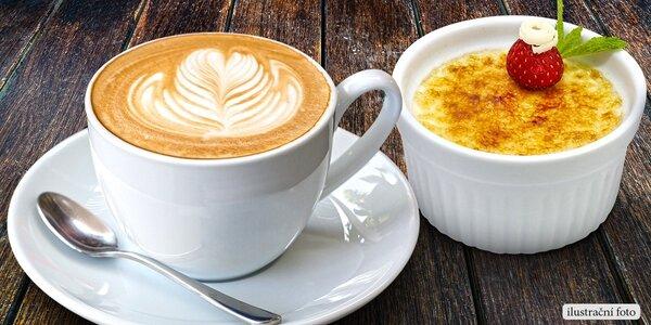 Káva a výborný dezert pro 2 osoby