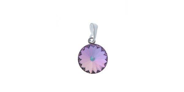 Přívěsek Swarovski Elements světle fialový krystal