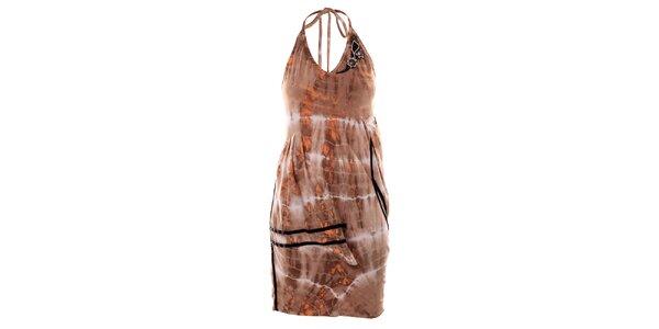 Dámské hnědé batikované šaty Angels Never Die