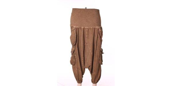 Dámské béžové turecké kalhoty s kapsami Angels Never Die