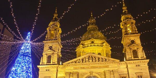 Adventní trhy ve svátečně laděné Budapešti