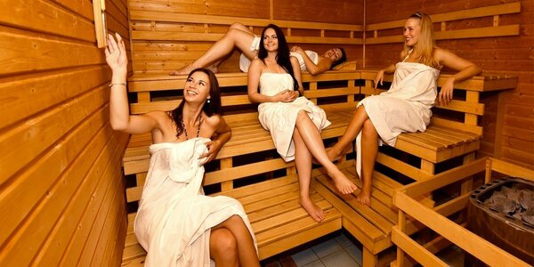 90 minut wellness a sauny pro 2–4 osoby