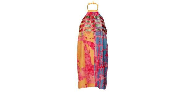 Dámské barevné šaty Custo Barcelona s potiskem