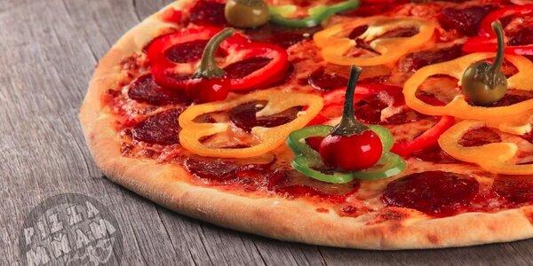 Pizza v nově otevřené Mňam pizze