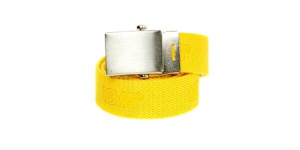 Dámský žlutý textilní pásek Levi´s