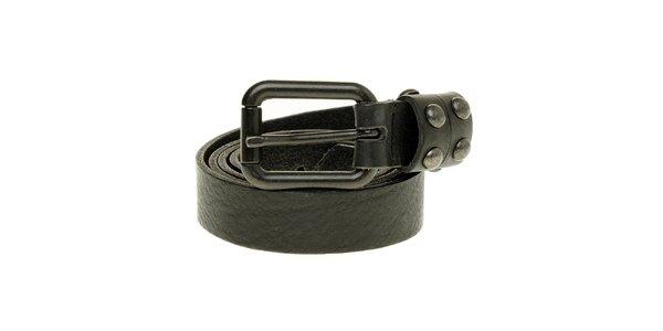 Dámský úzký černý kožený pásek Levi´s