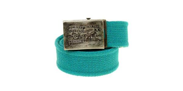 Dámský tyrkysově modrý textilní pásek Levi´s