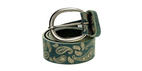 Dámský tyrkysový pásek Levi´s se stříbrným vzorem