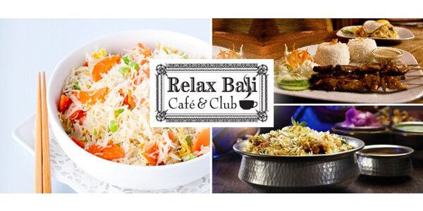137 Kč za indonéské menu v kavárně Relax Baliv Hluboké nad Vltavou.