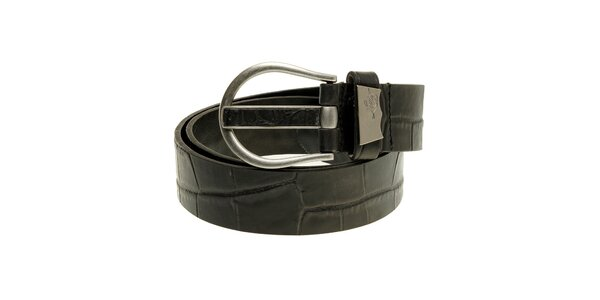 Pánský černý kožený pásek Levi´s