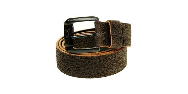 Pánský tmavě hnědý kožený pásek Levi´s
