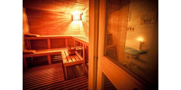 Masáž s uvolněním svalů v sauně
