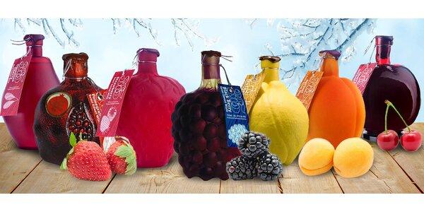 Exkluzivní ovocná vína v designových lahvích