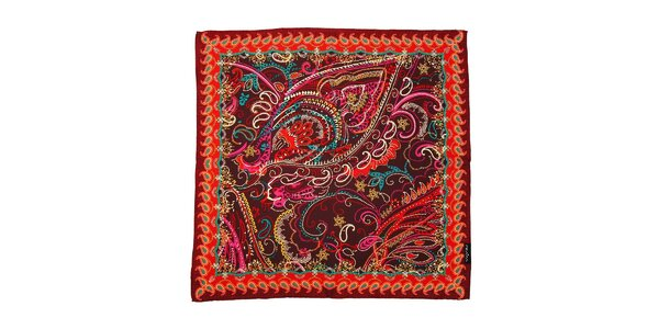 Pestrobarevný hedvábný šátek Fraas