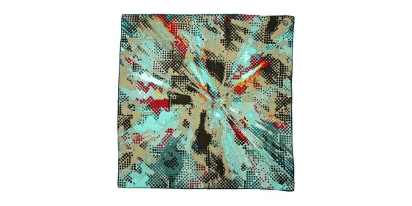 Hedvábný šátek Fraas s abstraktním vzorem