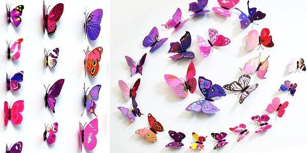 3D motýlci – dekorativní samolepky i magnetky