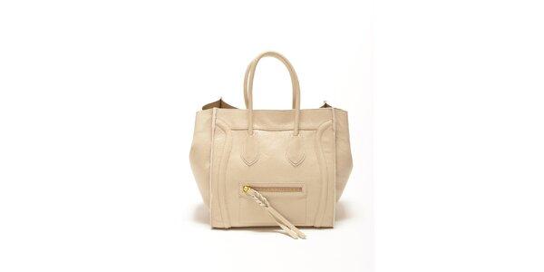 Dámská béžová kabelka s copánkovým detailem Renata Corsi