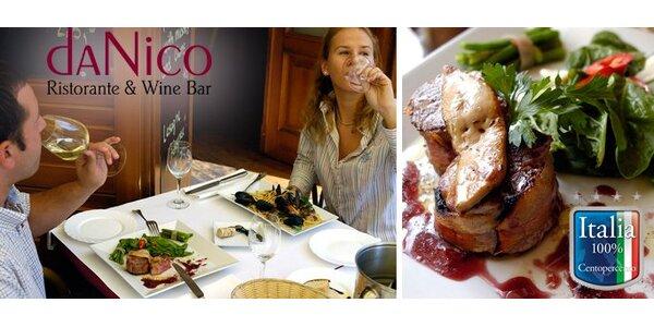 490 Kč za bohaté italské menu s aperitivem pro dva v hodnotě 1670 Kč!
