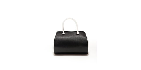 Dámská černo-bílá kožená kabelka Renata Corsi