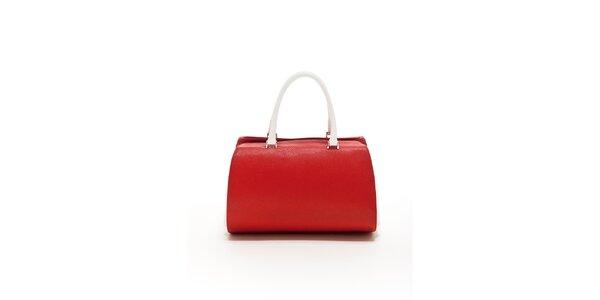 Dámská červeno-bílá kožená kabelka Renata Corsi