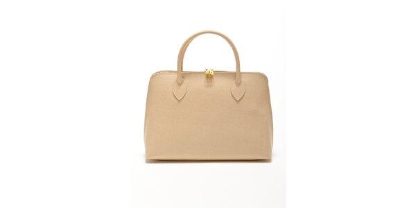 Dámská béžová kabelka z kvalitní kůže Renata Corsi