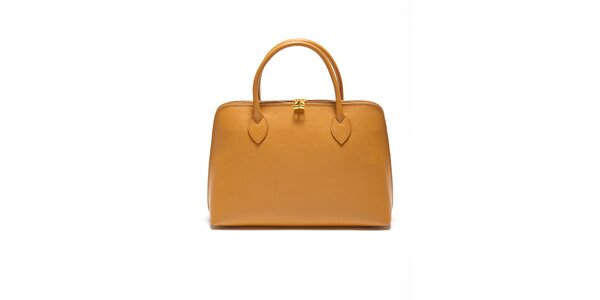 Dámská koňaková kabelka z kvalitní kůže Renata Corsi