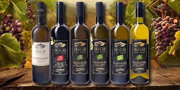 6 přívlastkových vín z Vinných sklepů Skalák
