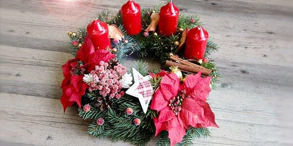 Nádherný adventní věnec včetně svíček