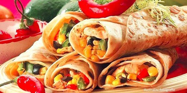 2x mexická tortilla dle výběru s litrem karafy Muškátu moravského