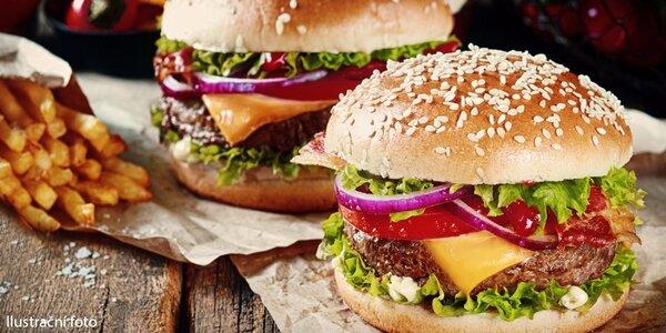 2x domácí hamburger včetně přílohy a nápoje