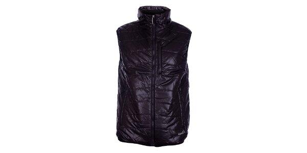 Pánská tmavě hnědá prošívaná vesta Loap