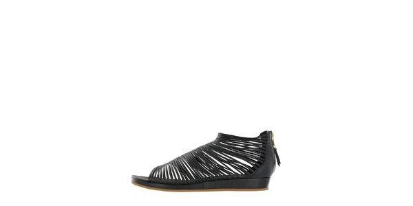 Dámské černé páskové sandály Flip Flop