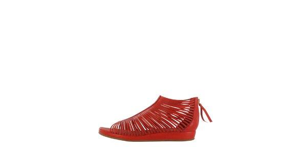 Dámské červené páskové sandály Flip Flop