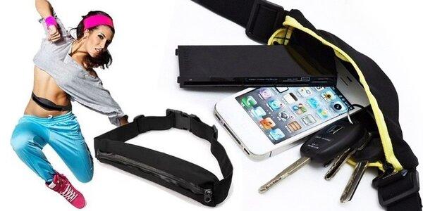 Sportovní opasek s pouzdrem na mobil, klíče, doklady i peníze