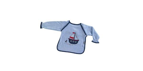 Dětský modrý bryndák Naf Naf s lodičkou