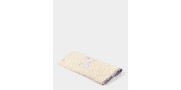 Dětská béžovo-fialová deka s potiskem Naf Naf