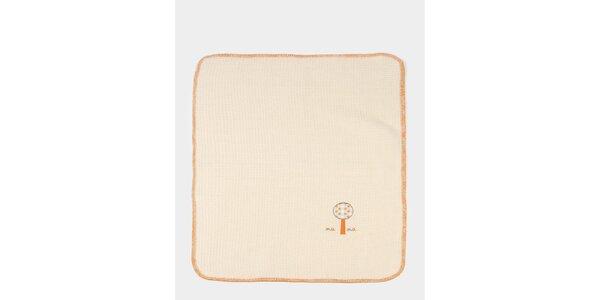 Dětská béžovo-oranžová deka s potiskem stromečku Naf Naf