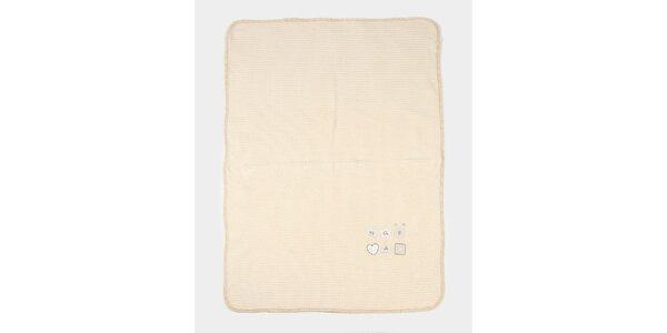 Dětská medově žlutá deka s potiskem Naf Naf