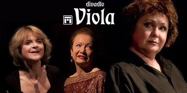 4 vstupenky na představení do divadla Viola