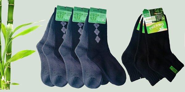 7 párů bambusových thermo ponožek
