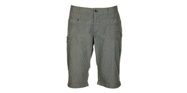 Dámské šedé proužkované capri kalhoty Loap