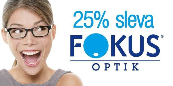 25% sleva na celý sortiment FOKUS optik