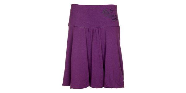 Dámská fialová balonová sukně Loap