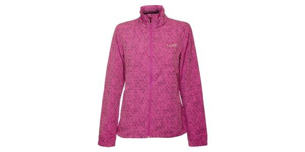 Dámská světle fialová softshellová bunda Loap s potiskem