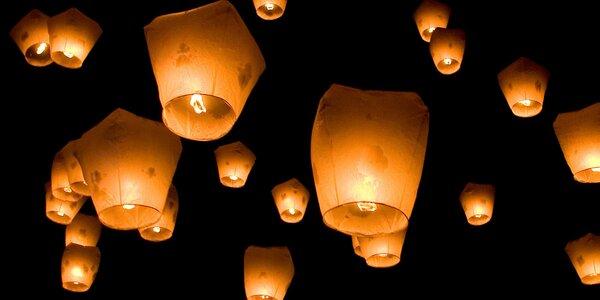 Vypusťte létající lampiony štěstí a přání