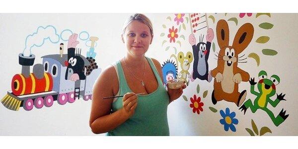 Vyzdobte zdi pokojů obrázky Krtečka