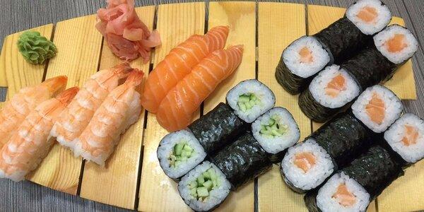 Sushi dobroty v podniku Ginza na Floře