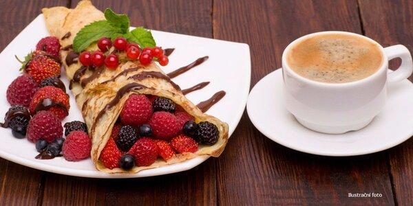 Káva a palačinky se zmrzlinou pro 2 osoby