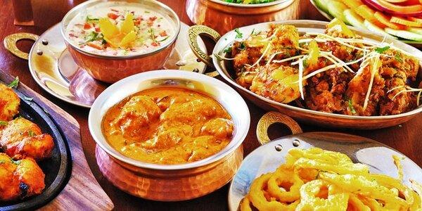 5chodové indické menu včetně nápojů pro dva
